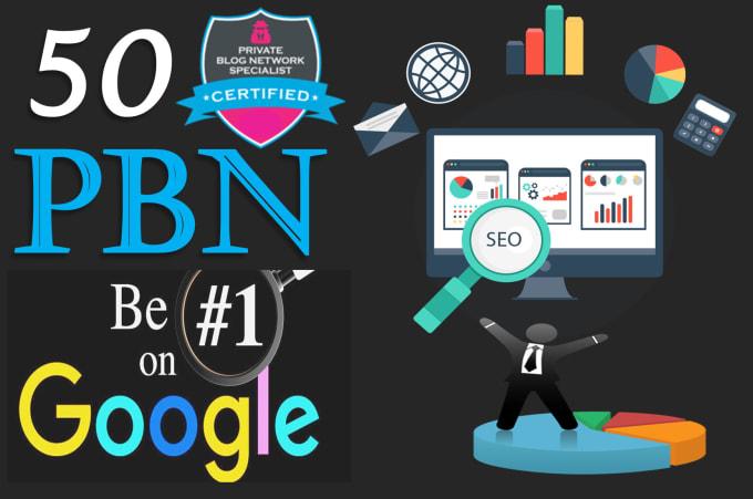 manually create 50 pbn backlinks with high domain authority