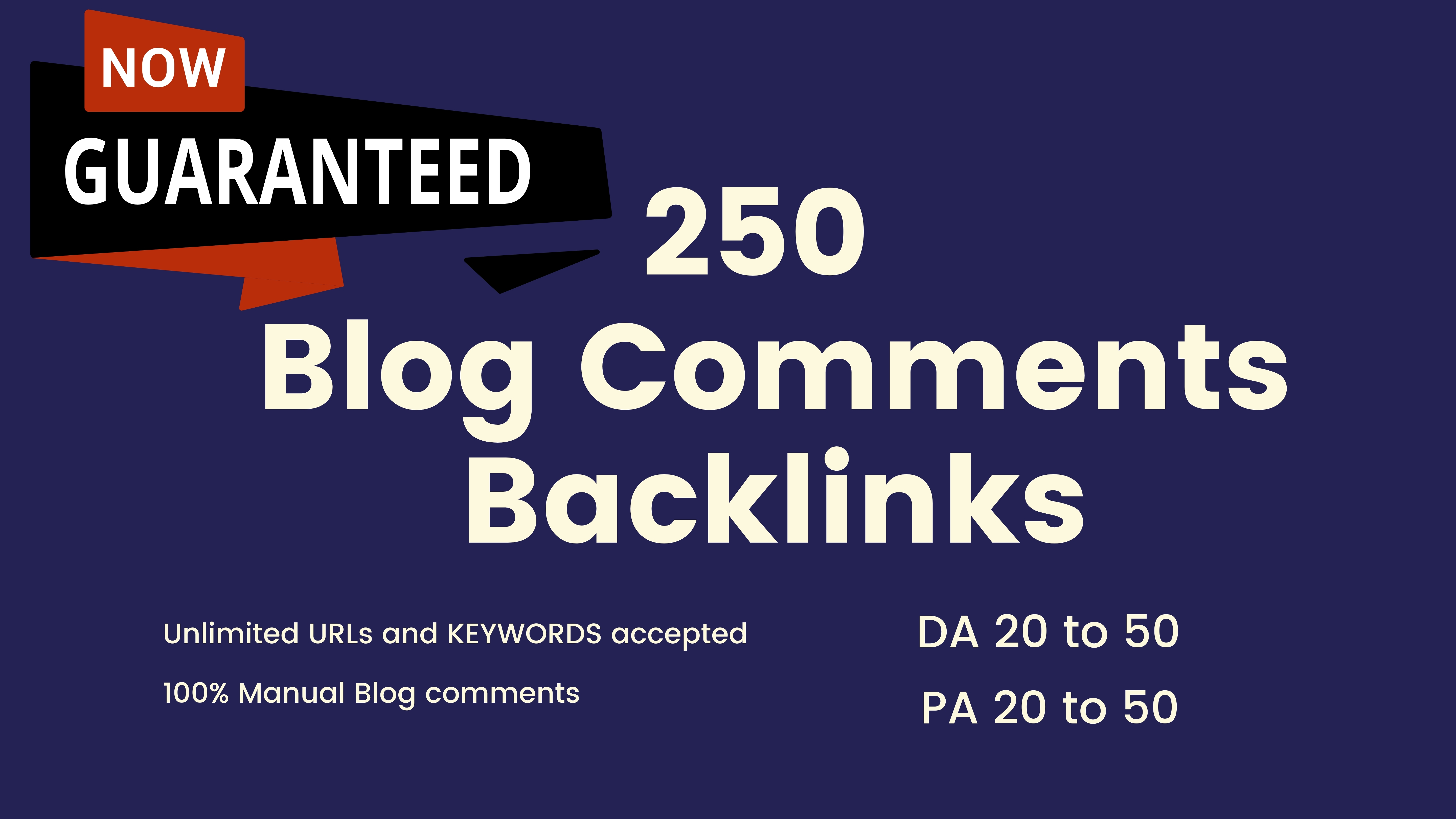 I will make 250 dofollow blog comment quality backlinks