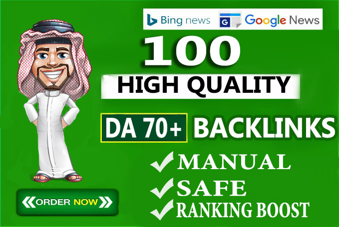 I will create 100 unique domain seo backlinks on tf100 da100 sites
