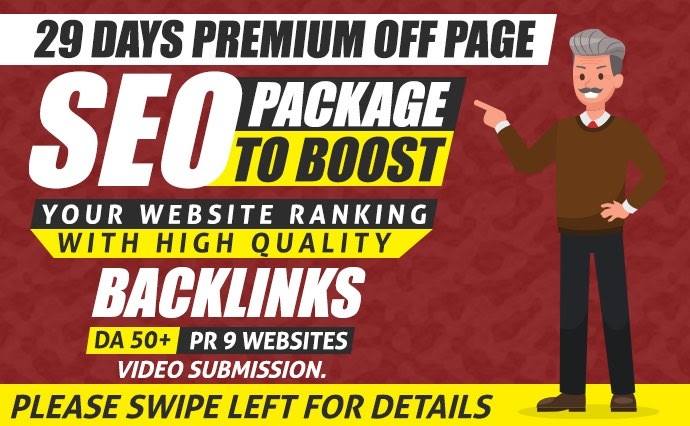 I will do premium off page seo package for google top ranking