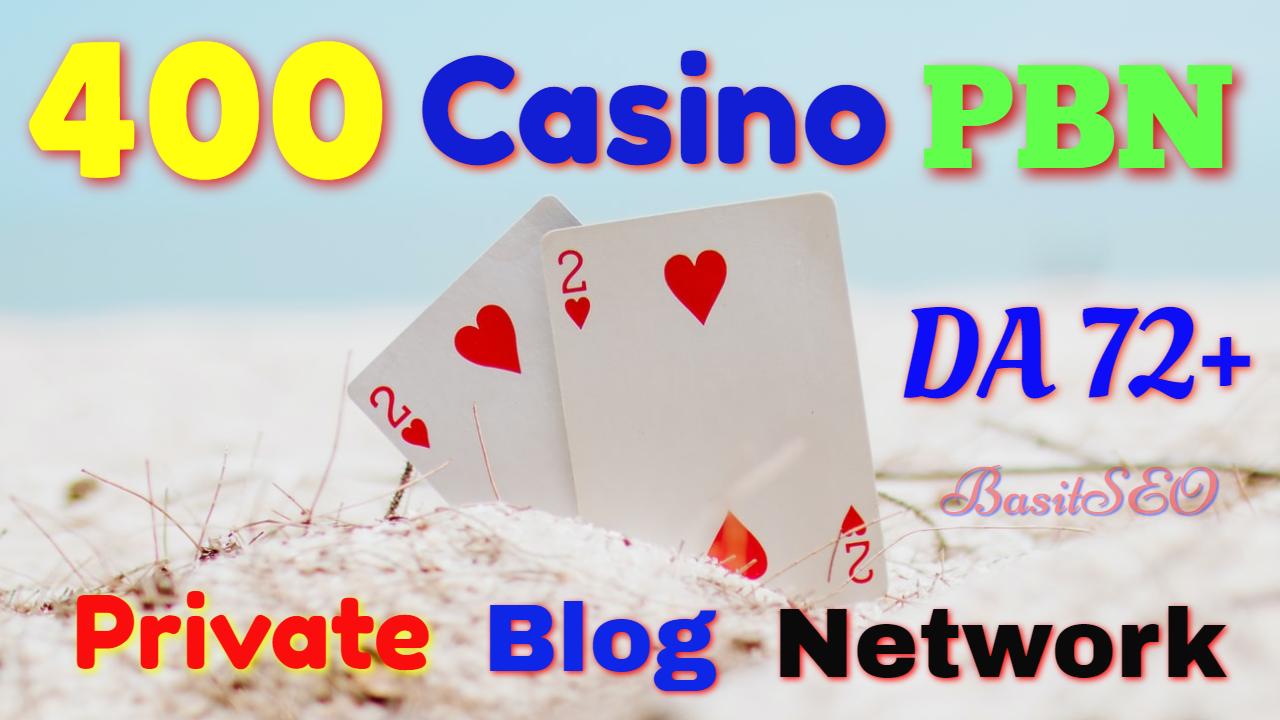 400 permanent DA 72+ PBN Backlinks Casino,  Gambling,  Poker,  Judi Related Websites