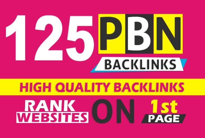 125 Permanent All DA 70+ Homepage Dofollow PBN Backlinks