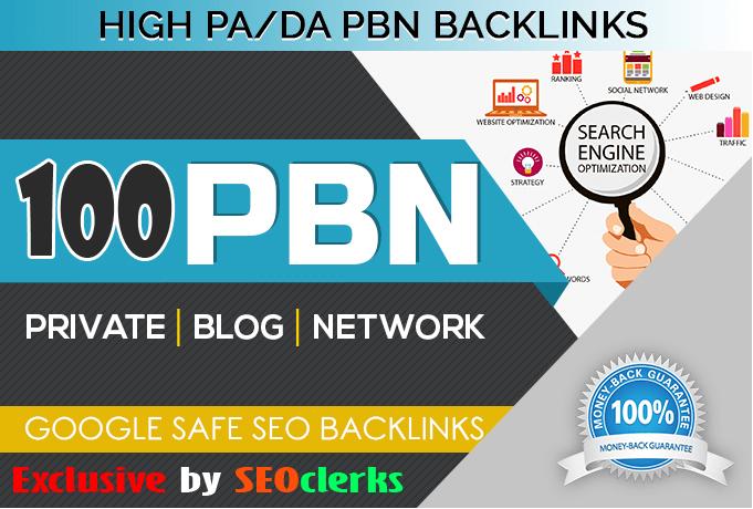 Create 100 Permanent Da 30+ high quality PBN Dofollow Backlink