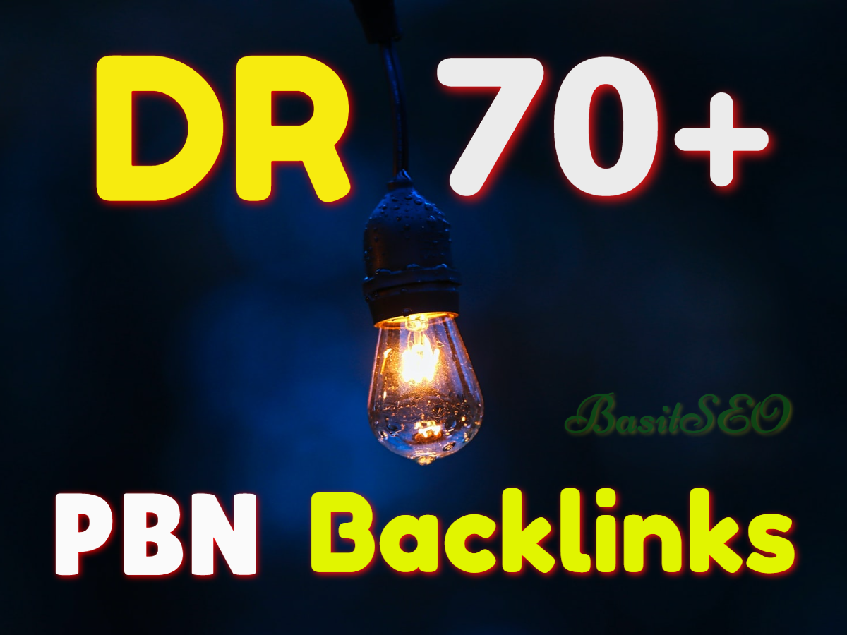Create 300 Permanent DR 70 Homepage high quality PBN Dofollow Backlink
