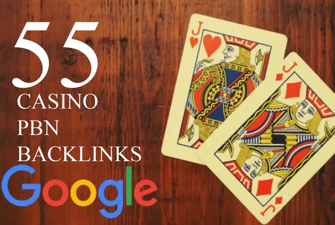 55 permanent DA 58-30+ PBN Backlinks Casino,  Gambling,  Poker,  Judi Related Websites