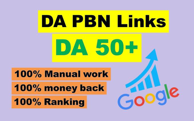 Provide you 35 Permanent Manual High DA 55+ PBN Backlinks