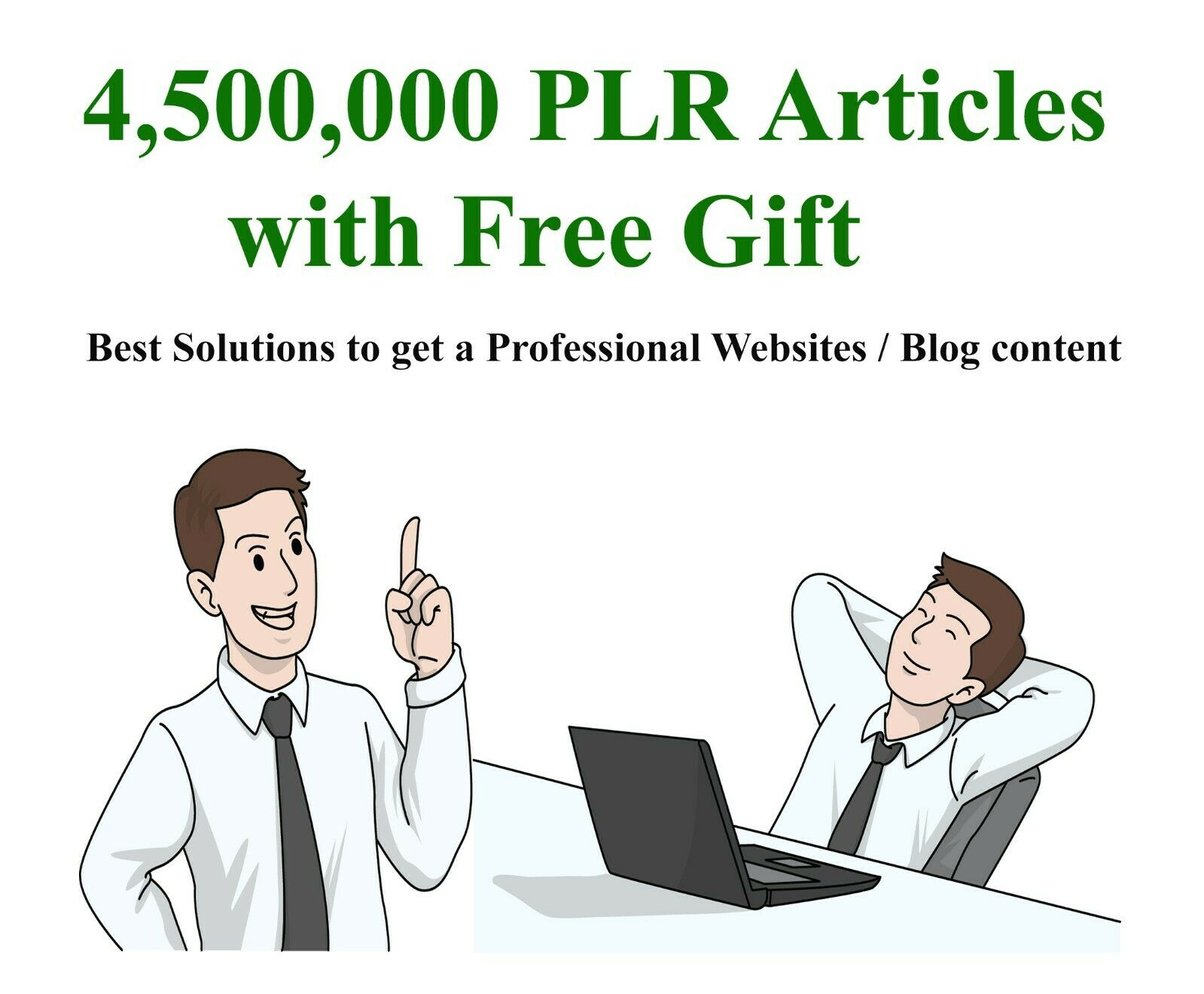 Massive 4,500,000 Updated PLR Articles Collection for Professional Websites/Blog