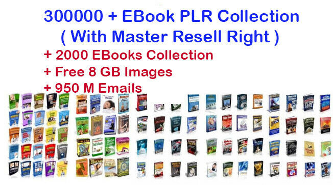300000+EBooks PLR Articles with MRR+20000 PDF with Bonus+8GB Images+950 M Emails