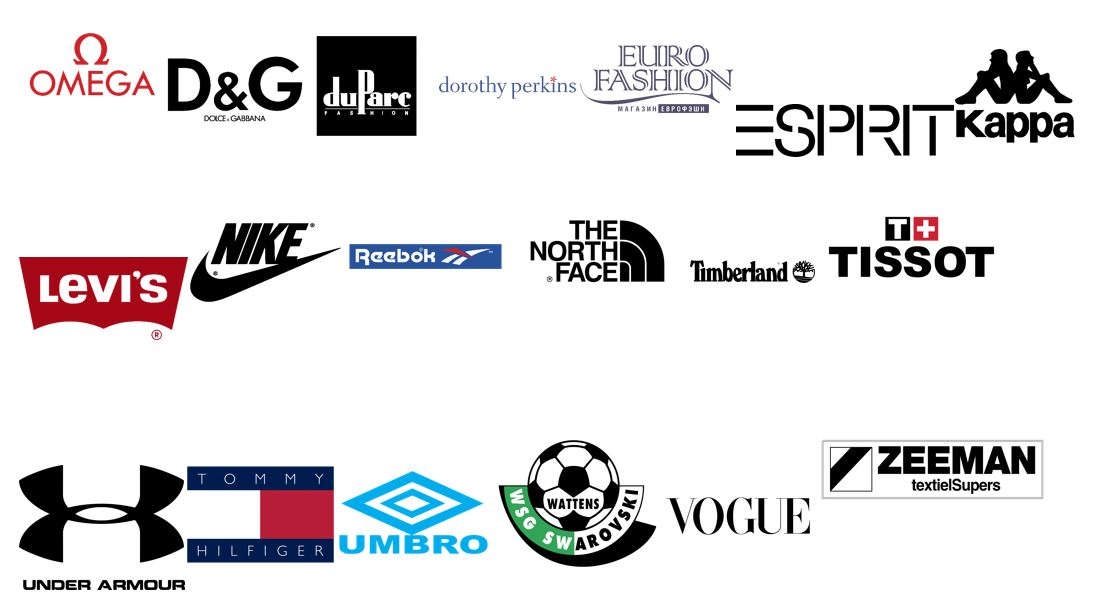 Fashion Brand Logos in SVG,EPS,PNG,DXF,JPEG, Formats 4000 Pre Made Designs Mega Pack