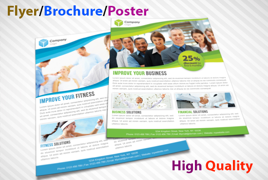 I will flyer, brochure and poster design
