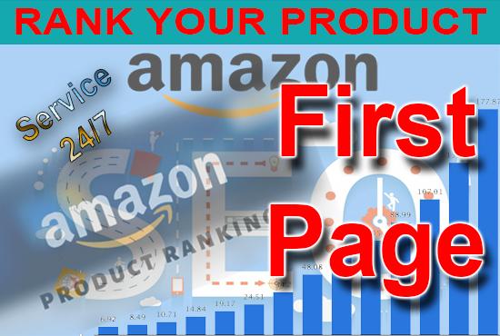 Amazon product keywords ranking on 1st page