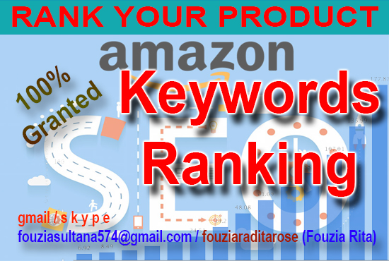 Amazon product keywords ranking on 1st page