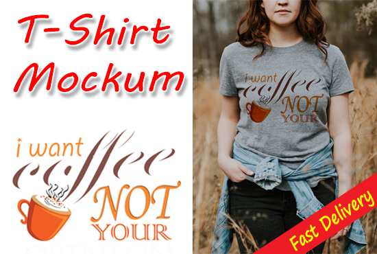 I will Make Nice T-shirt Mockup Design