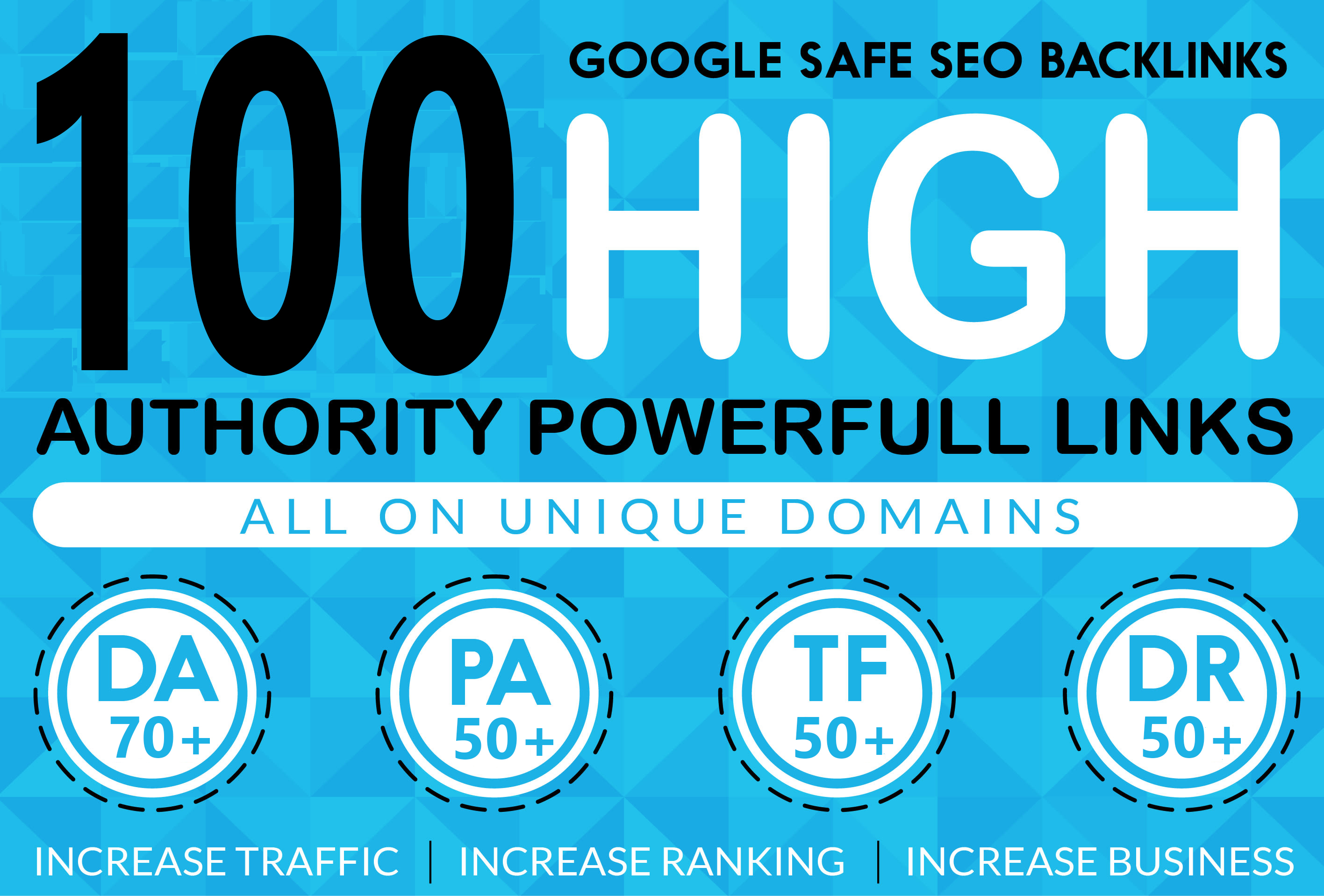 LIMITED TIME OFFER 100 High Quality all Dofollow high DA PA TF CF web2.0 Backlinks