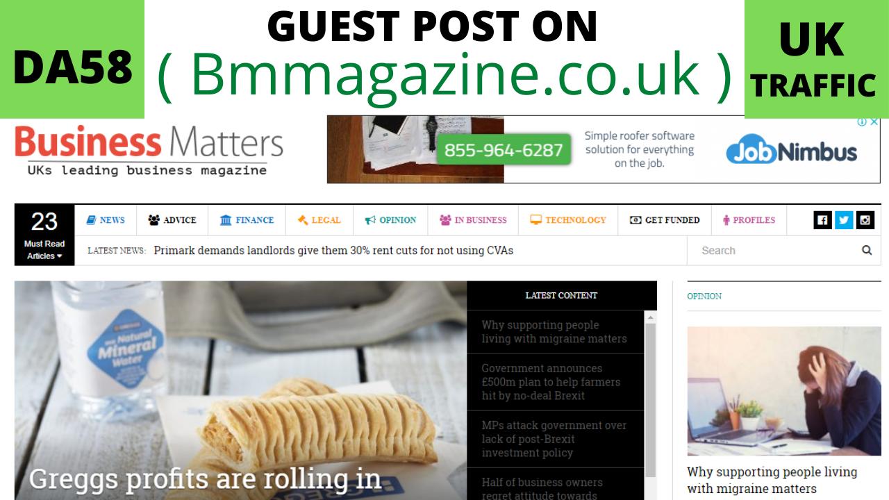 publish guest post on bmmagazine. co. uk da50 pa58