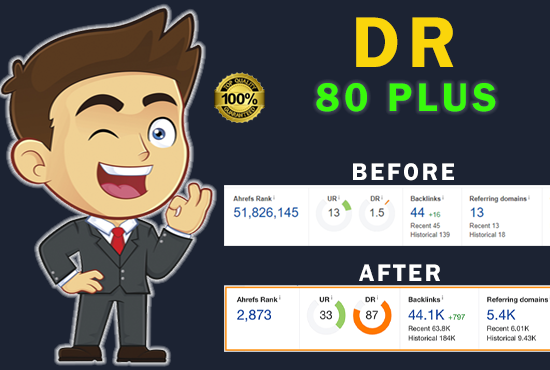 I will increase Domain Rating Ahrefs DR 40
