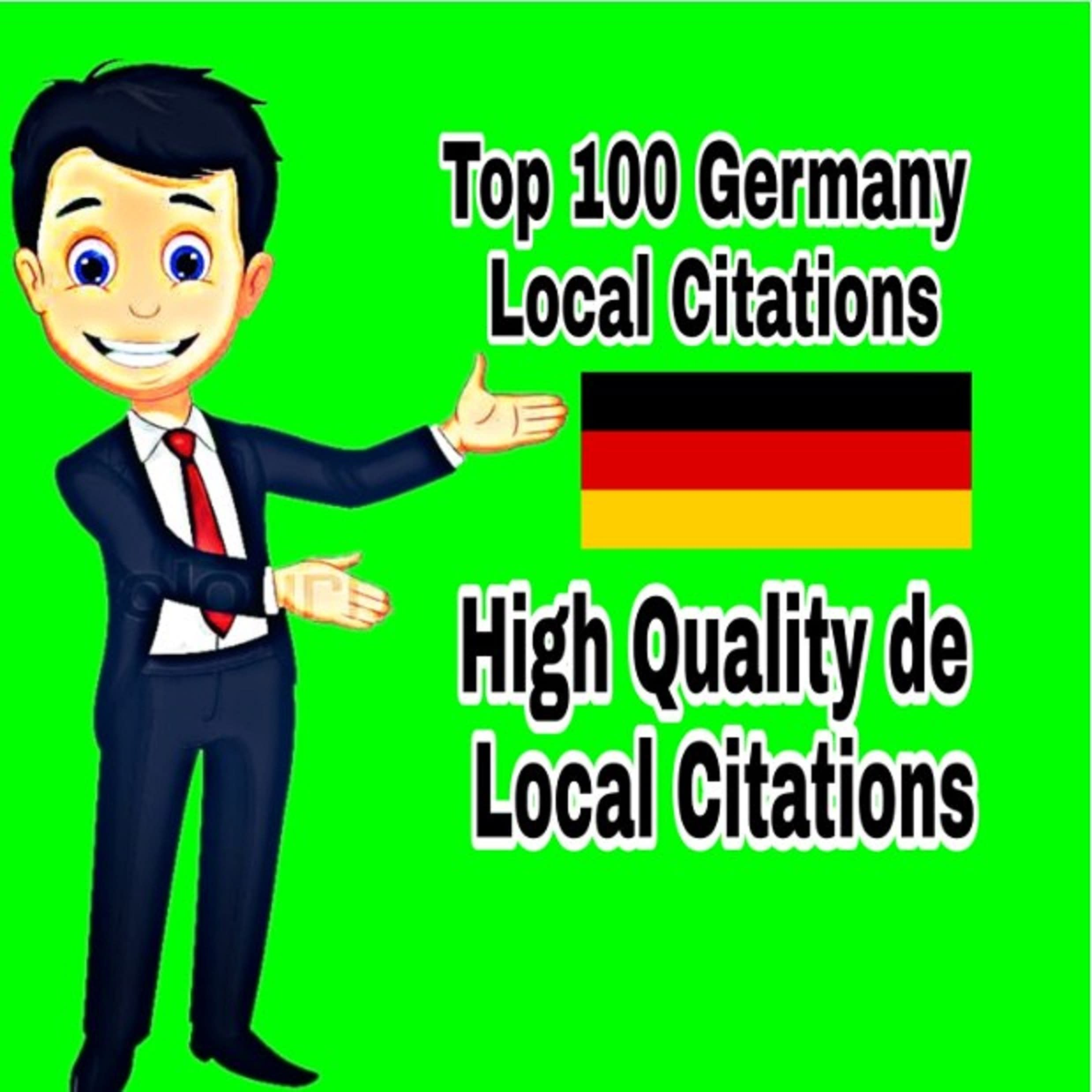 I will create 100 german google map point citations for SEO boost