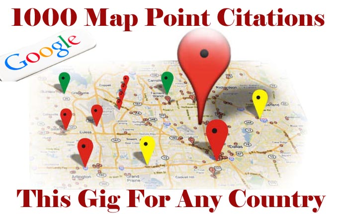 I will do 1000 google map point citations for pr9 local seo business