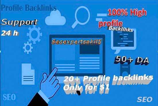 I will do 10+ HQ social media profile seo backlinks