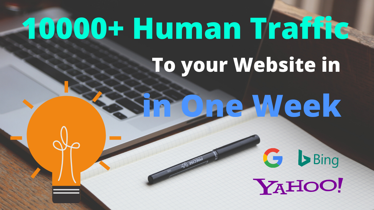 I will Drive 10000+ Human Traffic to Your Website in one Week