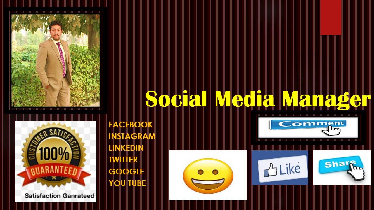 i will do Social Media Marketing for your Facebook, Instagram