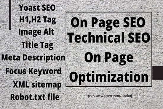 On Page SEO Optimization for Top Google Ranking & Traffic Wordpress Website