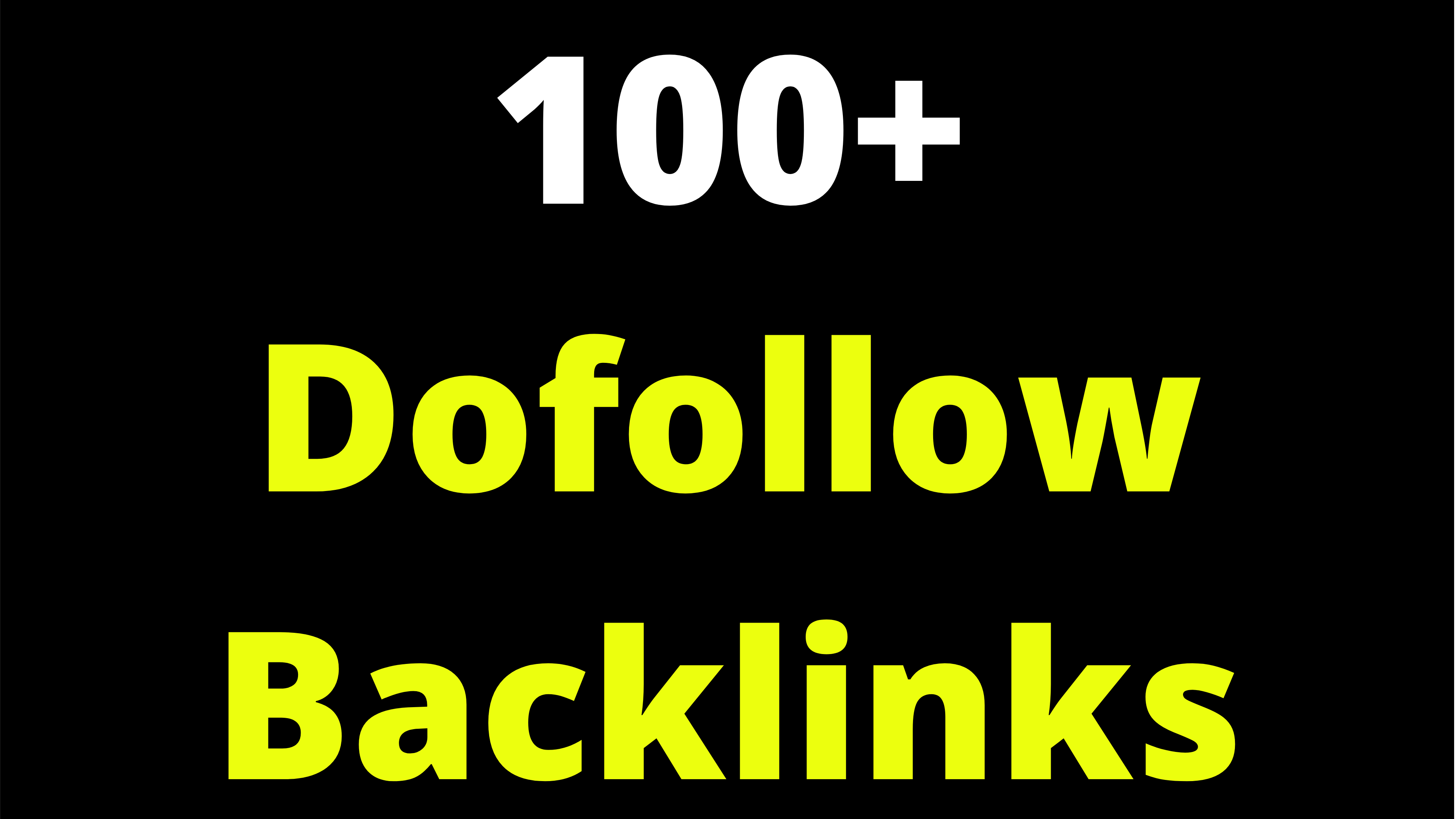 Dofollow SEO Backlinks 100+ Rank Your Site In Google Easily