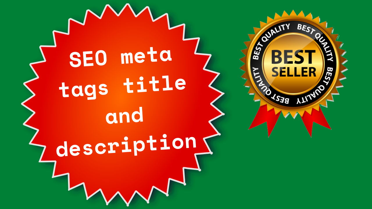 I will fix your SEO meta tags title and description