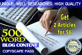 I will write 500 words SEO optimized articles or content for your website