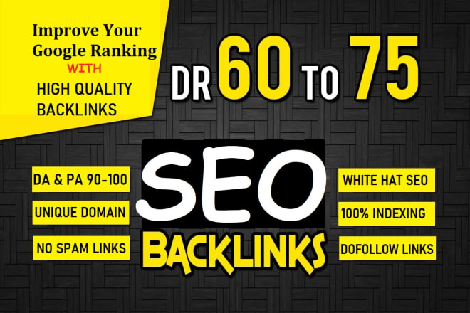 I will create 150 SEO backlinks white hat manual link building service for google top ranking