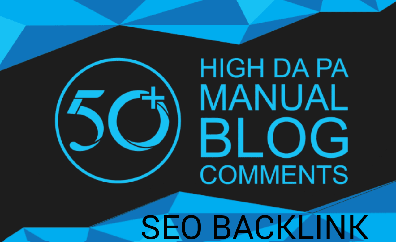 I will do 50 blog comment in high da blog sites