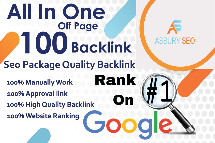 All In One Off Page Seo Package Get 100 Quality Backlinks High DA