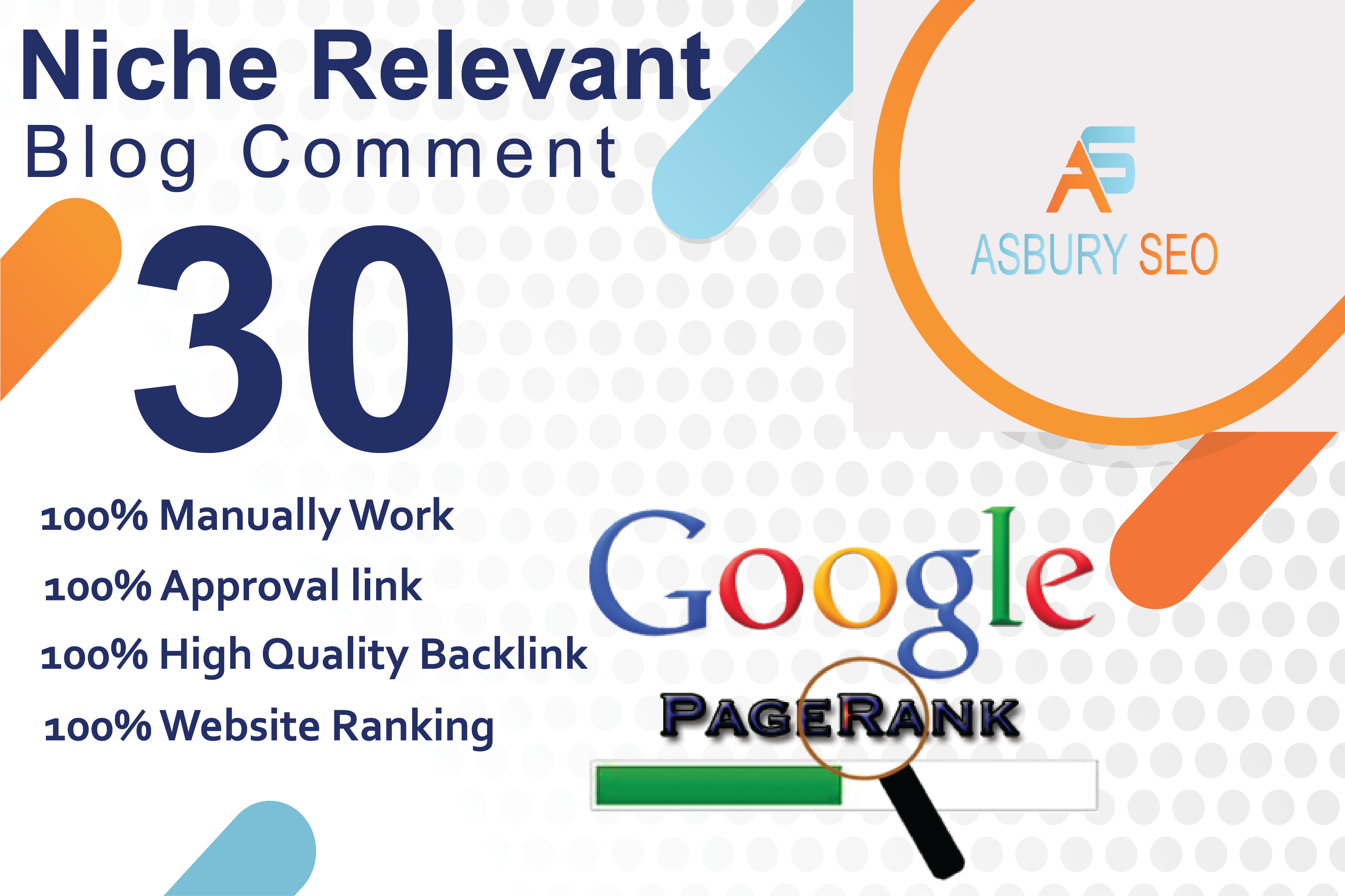 I will provide 30 niche relevant manual blog comment backlinks