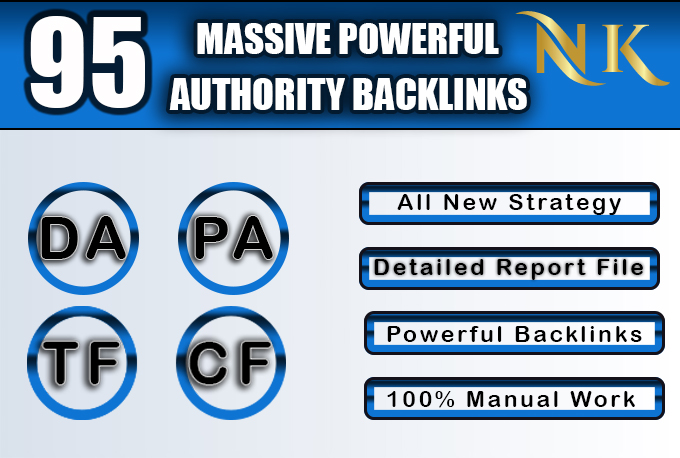 95 unique domain exclusive permanent SEO backlinks da 100