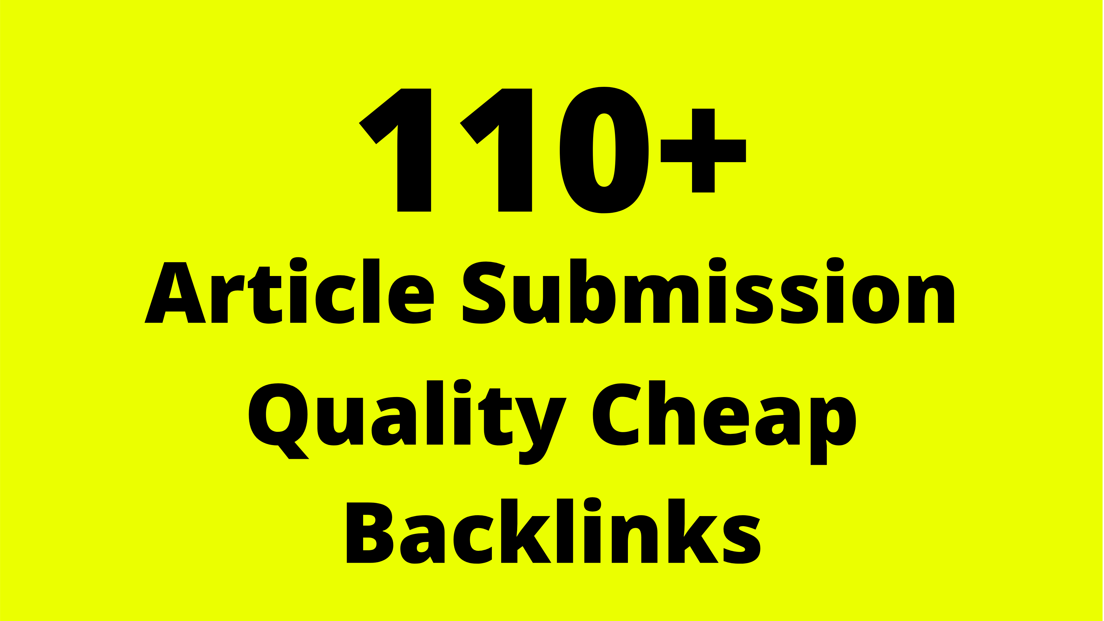 Submit Your Article To 110+ Website Backlinks Create SEO Service