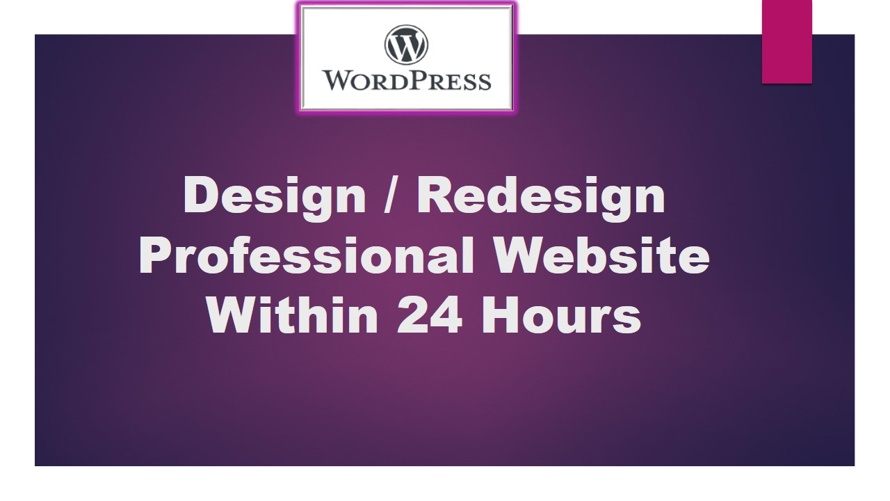 I will Developed Professional Site Within 24 Hour.