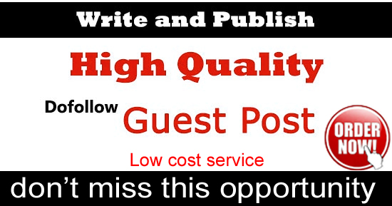I will publish 3 guest post on high site