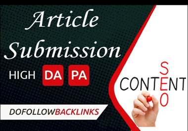 i can do your 3 article submission