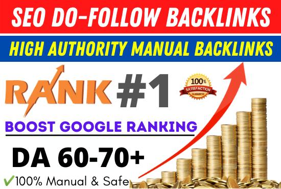 I will create high authority manual seo dofollow backlinks