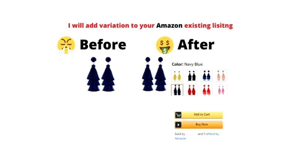 I will add variation to existing Amazon listing