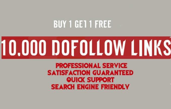 I will create 10,000 dofollow seo backlinks