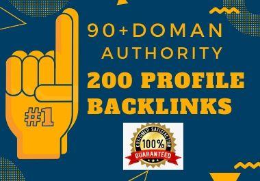 I will do high authority profile backlinks da 90