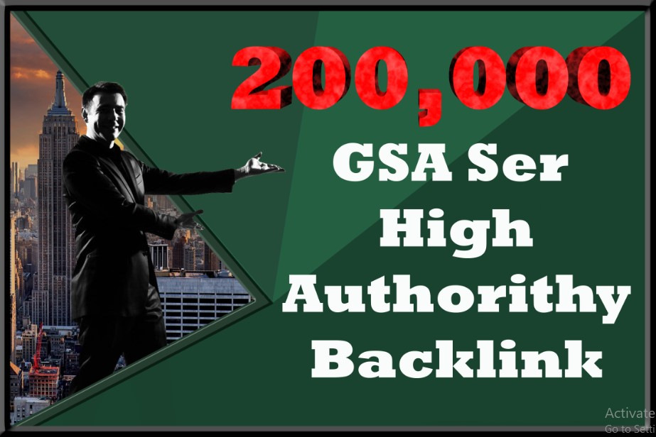 200,000 GSA SER High Authorithy Backlinks For Increase Link Juice
