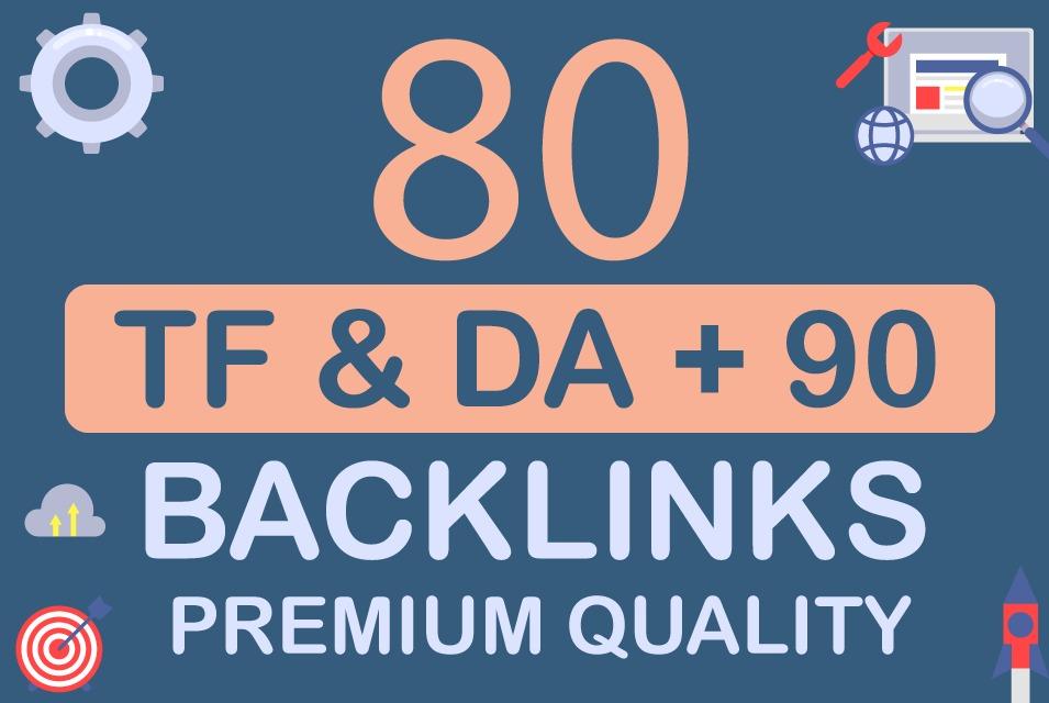 Built 80 Manual Backlinks Premium Quality DA 90 Limited offer
