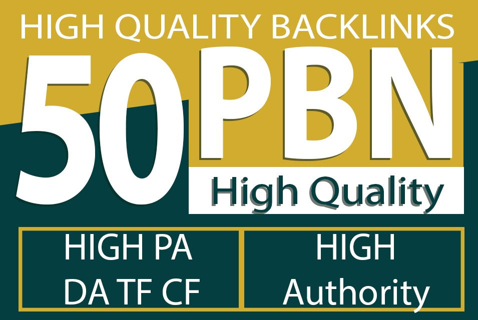 Built 50 High PA DA TF CF HomePage PBN Backlinks to increase Traffic