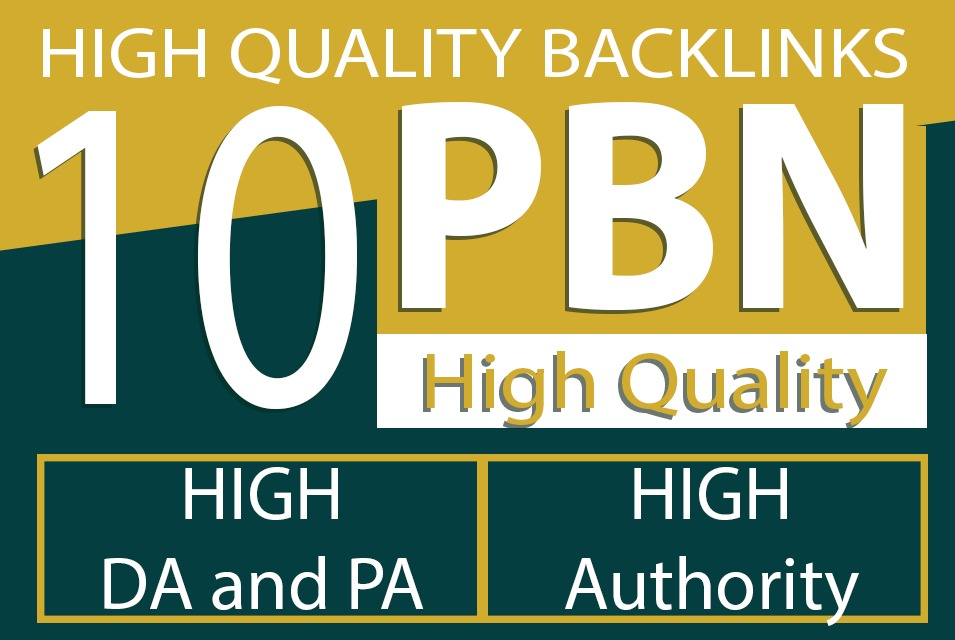 Built 10 High PA DA TF CF HomePage PBN Backlinks to increase Traffic
