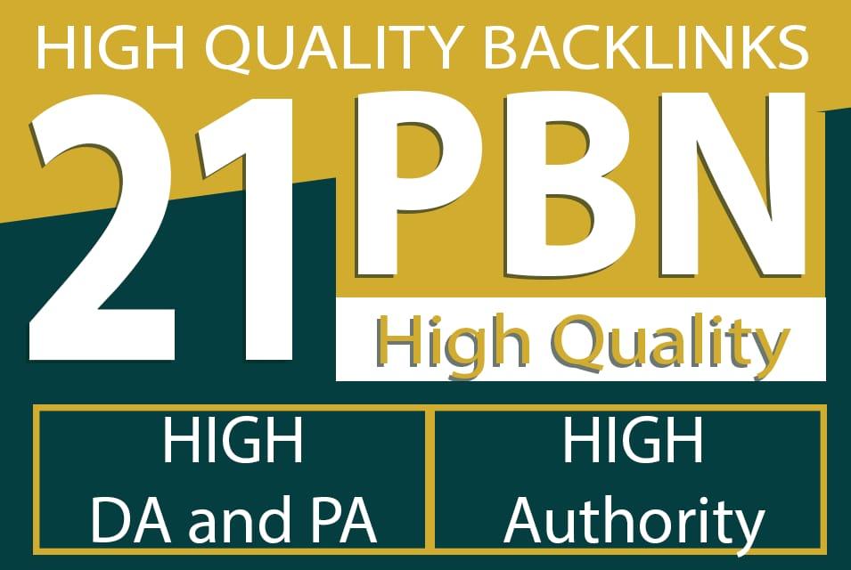 Built 21 High PA DA TF CF HomePage PBN Backlinks to increase Traffic