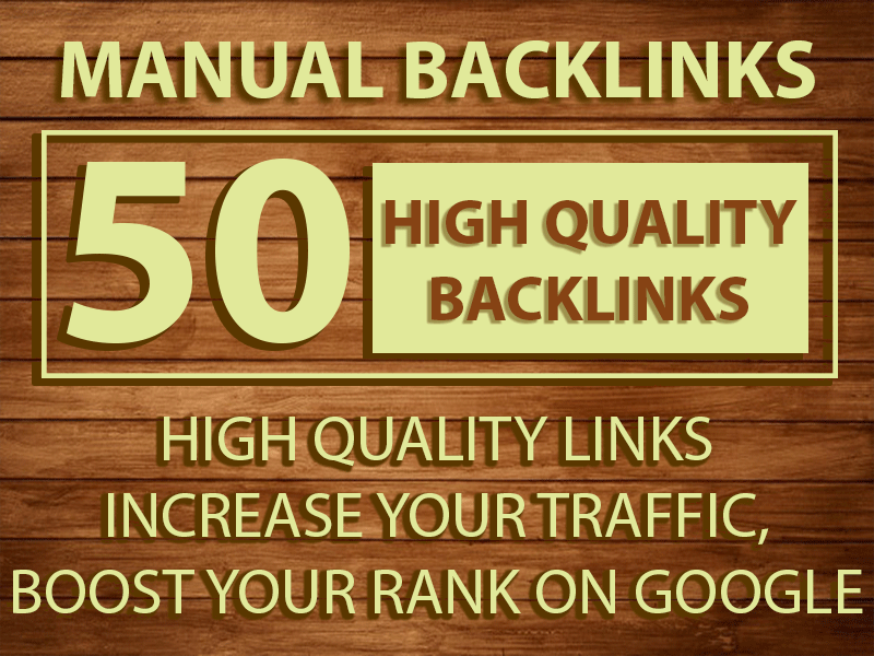 I will build 50 Manual Backlinks on High DA sites