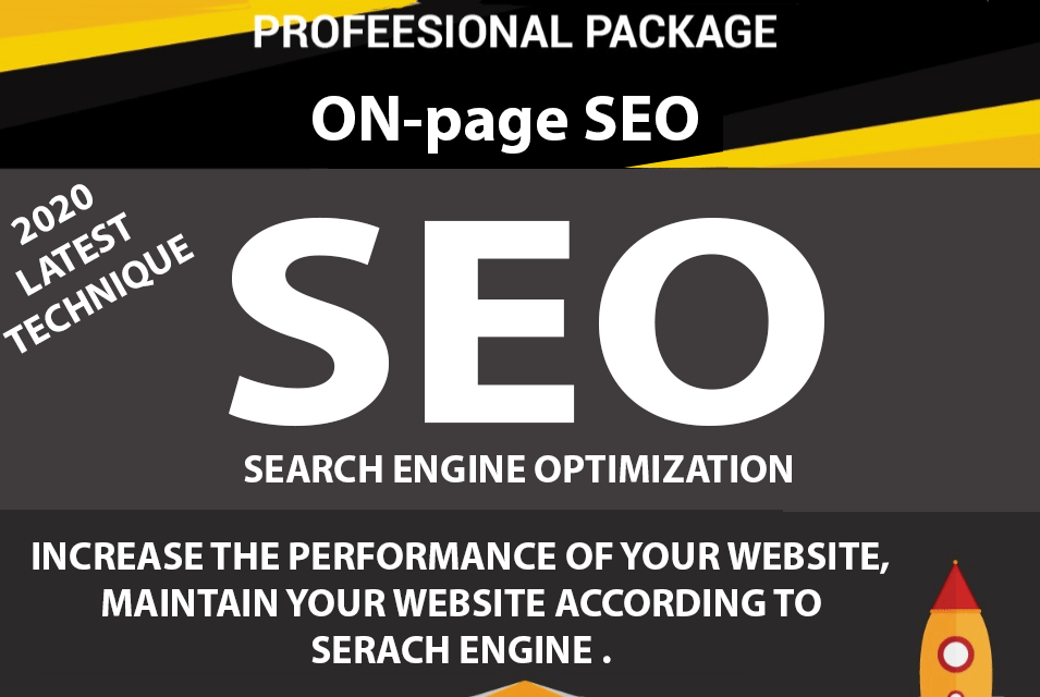 Full Profesional Package of Onpage Seo 2020 latest techniques