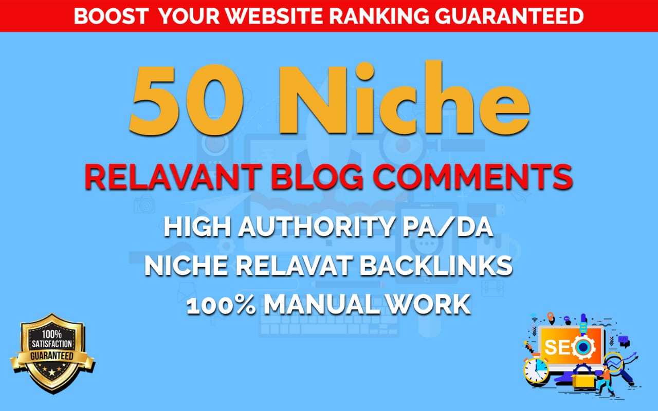 I Wiil Provide 50 Niche Blog Comment Backlinks